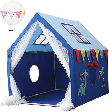 ZZUU Tienda Infantil Grande De Juego para Jardin O Interior De Madera Y Lona,Tienda campaña Infantil para niños/casa de Juego: Amazon.es: Deportes y aire libre