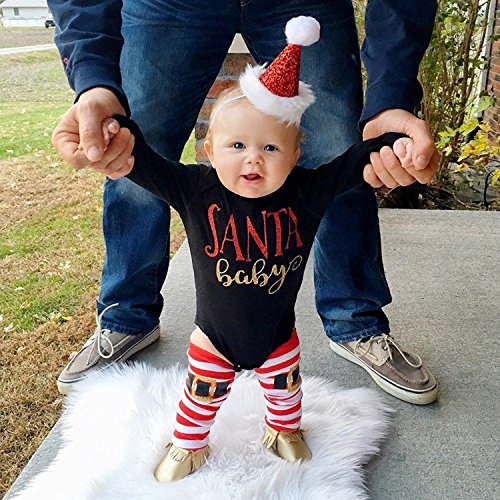 zefeng 3Pcs Baby Girls Romper+Leg Warmers+Headband Long Sleeve Outfits