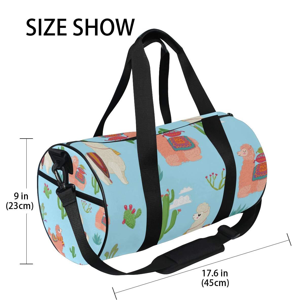 Llama Unisex's Duffel Bag Travel Tote Luggage Bag Gym Sports Luggage Bag by EVERUI (Image #4)