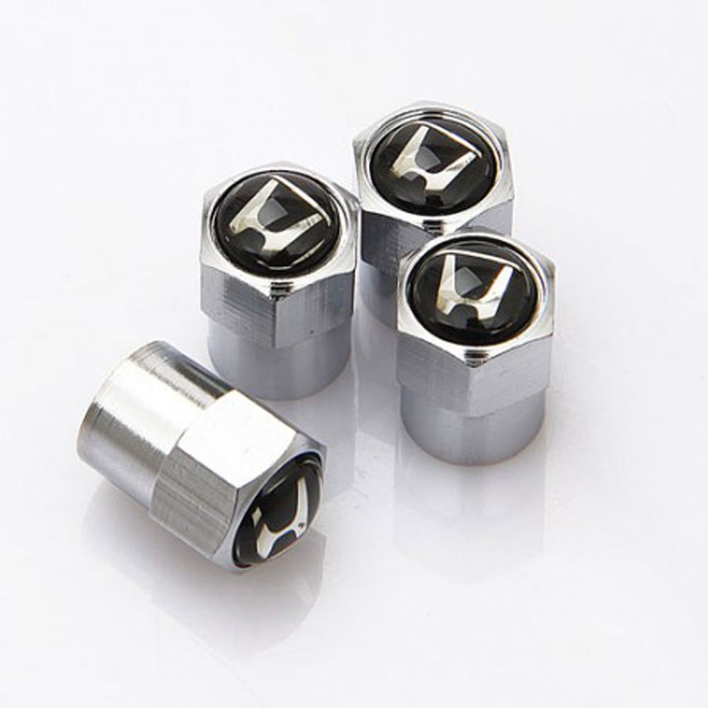 GZ RuiLiPu 4PCS Auto Accessories Wheel Tire Parts Valve Stem Caps Cover For SAAB saab 9-3 9-5 93 95 BJ SCS car styling for SAAB, silver