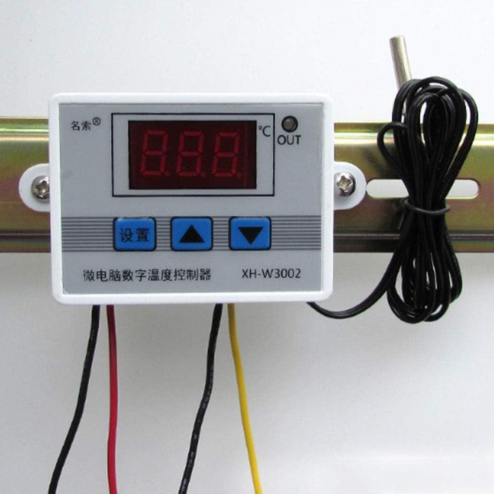 jumpeasy refrigeracion calefaccion Sonda Alta precisi/ón Microordenador termostato Regulador termico Pantalla LCD Controlador digital de temperatura 220V 1500W