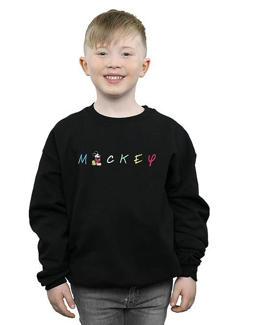Disney Niños Mickey Mouse Wording Logo Camisa De Entrenamiento: Amazon.es: Ropa y accesorios