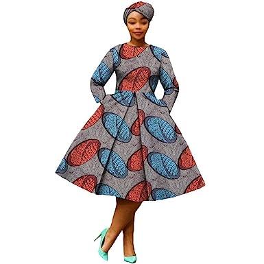 3c44f9f35ef African Dresses for Women Party wear Flower Floral Fashion Culture  Vintage+Headwrap 35×45