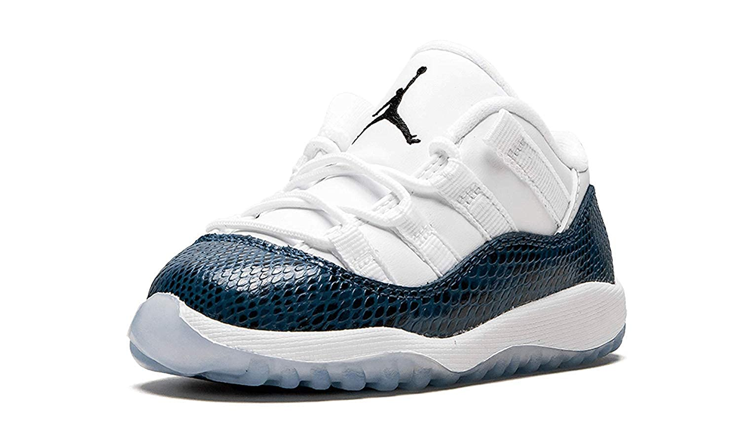 new concept c8c27 f8edf Amazon.com | Air Jordan Retro 11 Low Navy Snakeskin LE White ...