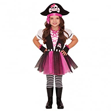 4-6 Years - Child Pink Pirate Girl Outfit Fancy Dress Costume Book Week  Caribbean 8c2c9e5fa5d1
