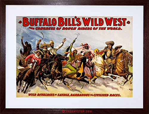 Wee Blue Coo AD Cultural Exhibition Buffalo Bill Wild WEST Show Framed Print F12X2180