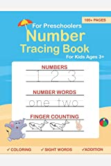Number Tracing book for Preschoolers: Preschool Numbers Tracing Math Practice Workbook: Math Activity Book for Pre K, Kindergarten and Kids Ages 3-5 (Pre K Workbooks) Paperback