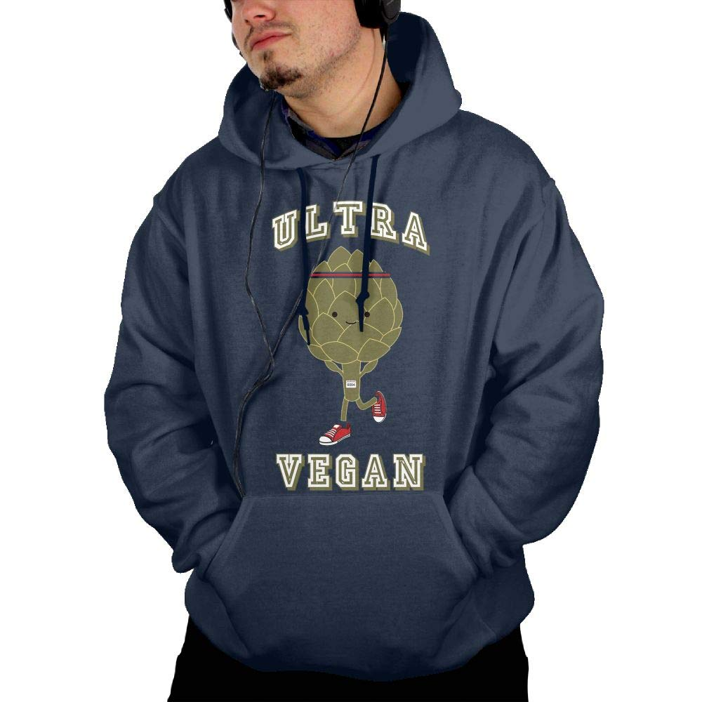 Aiguan Ultra Vegan Running Artichoke Mens Hoodie Sweatshirt with Pocket