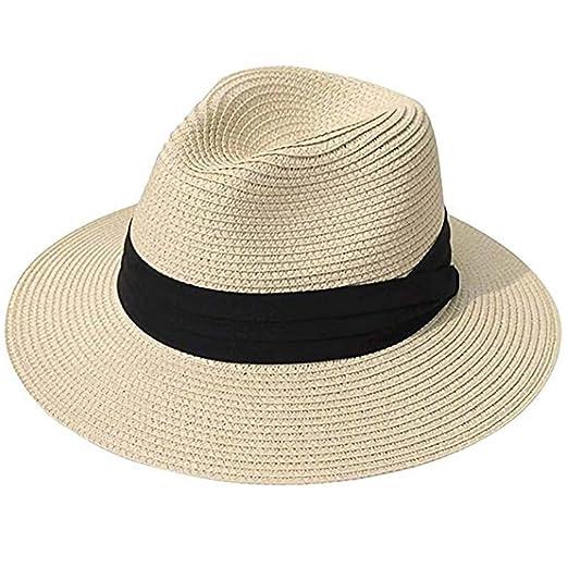 8d19af975dcbf Sun Hats, Women Beach Hat Fedora Panama Hat Summer Straw Cap Wide ...