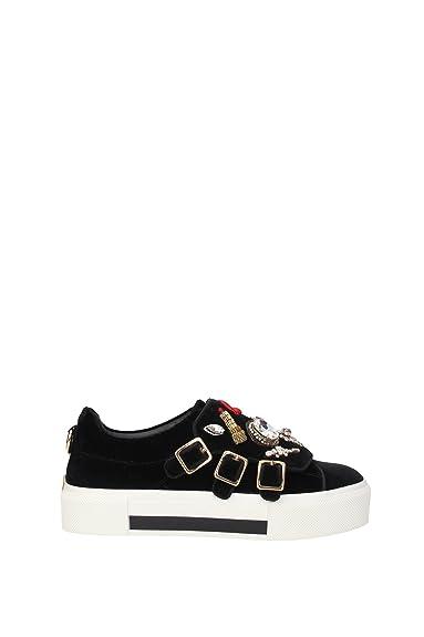 Alexander McQueen 437953W4AZQ1049 Sneakers Women Velvet Black   Amazon.co.uk  Shoes   Bags 3f4be5aca5
