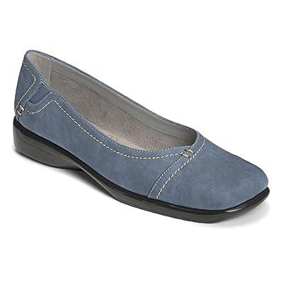 Womens Leather Flats Mid Aerosoles Blue Between Us
