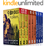 Mail Order Bride: 9 Book Boxed set : 9 Brides for 9 Cowboys: CLEAN Western Historical Romance Series Bundle