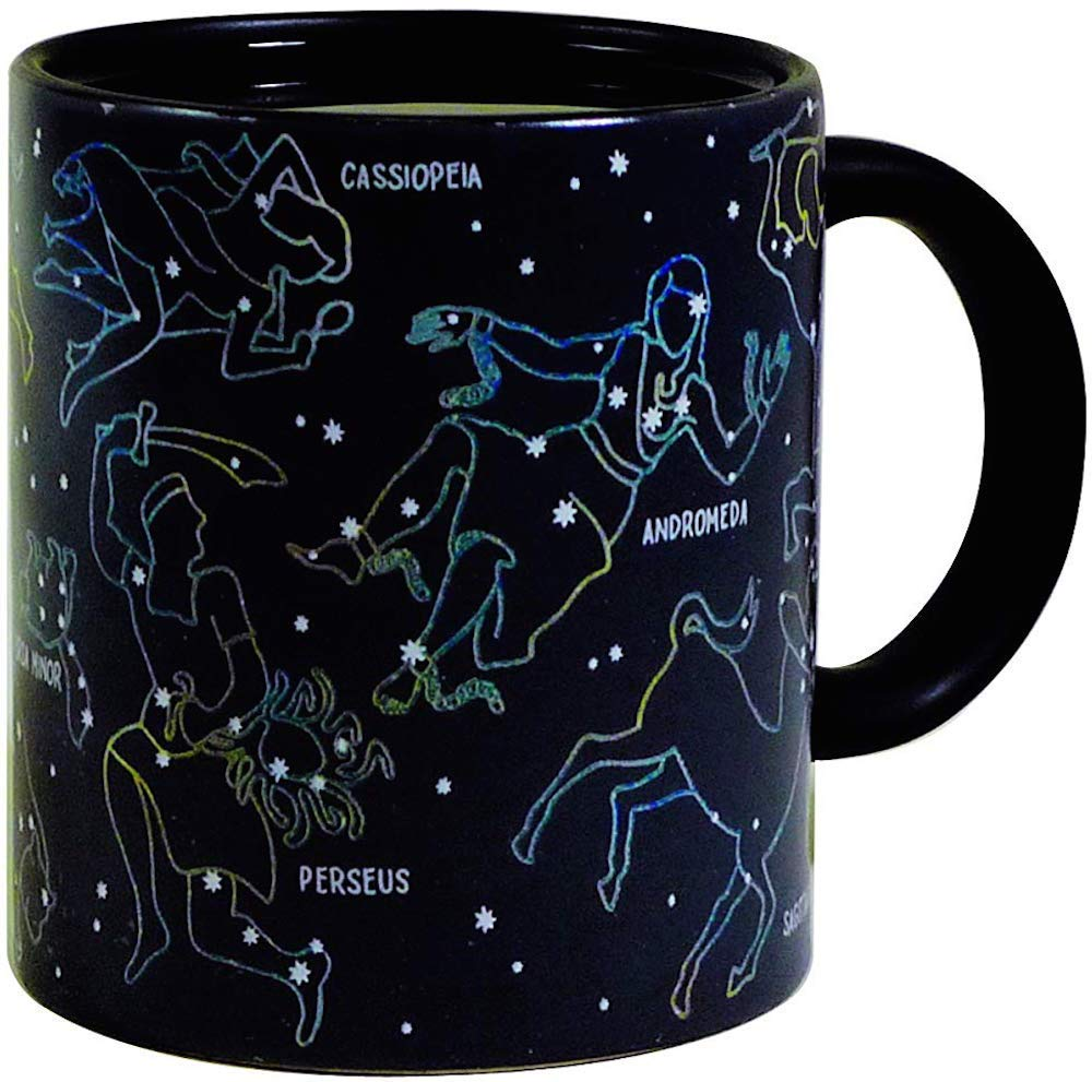 The Unemployed Philosophers Guild Heat Changing Constellation Mug by Stars Appear in the Night Sky on this Color Changing Coffee Cup - 10 OZ - BPA Free Ceramic - Comes in a Fun Colorful Gift Box