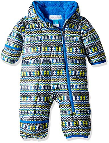 Columbia Unisex Baby Infant Frosty Freeze Bunting, Cool Grey Zigzag Print, 12/18