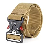 YAMATE Men's Tactical Belt, Military Combat Army Style Equipment Adjustable Heavy Duty Nylon Waist Belt with Quick-Release Wear-resistant Metal Buckle for Men's Outdoor Training Activities