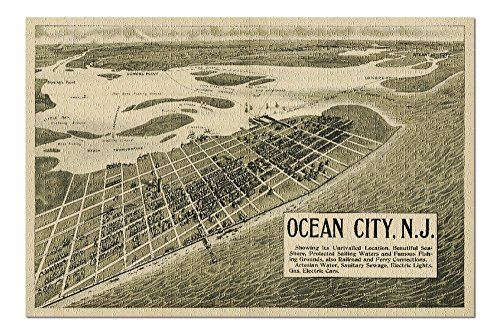 Ocean City, New Jersey - (1903) - Panoramic Map (20x30 Premium 1000 Piece Jigsaw Puzzle, Made in USA!) ()