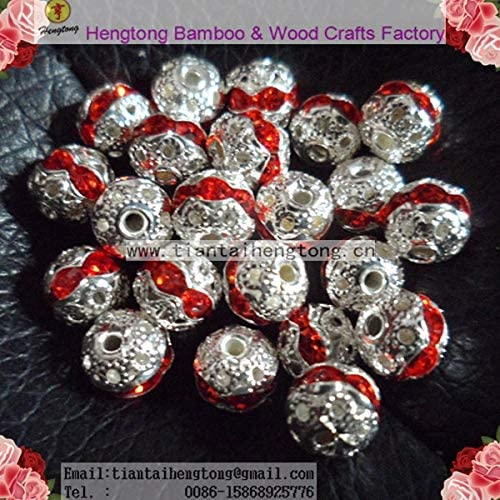 Calvas 100pcs//pack 8mm Alloy Bead Crystal//Crystal Stud Bead//Jewelry Accessory Special Offer