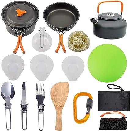 Bling (Pot + Tetera Camping de Utensilios de cocinar al Aire ...