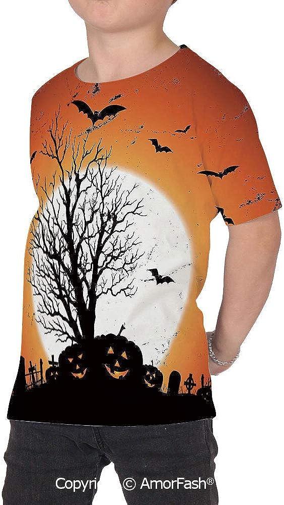Vintage Halloween Girl Regular-Fit Short-Sleeve Shirt,Personality Pattern,Grunge
