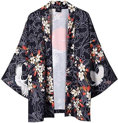 Womens Lace 3//4 Sleeve Tops Kimono Beachwear Coat Cardigan Summer Cover Shirts