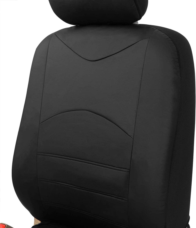 Esituro Scsc0047 2er Einzelsitzbezug Universal Sitzbezüge Für Auto Schonbezug Schoner Aus Kunstleder Schwarz Auto
