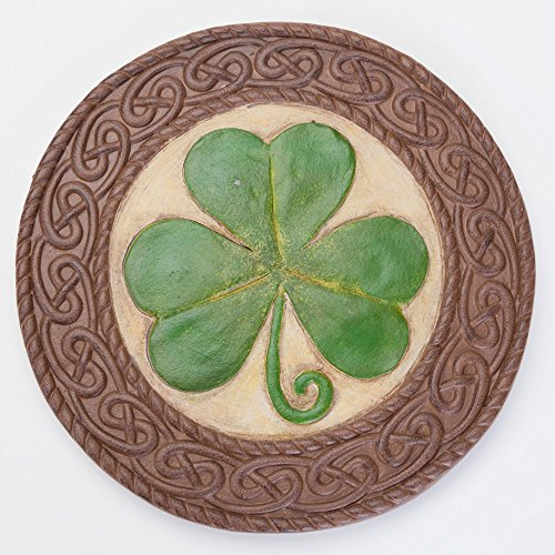 Bits and Pieces St. Patrick's Day Shamrock Stone - Luck of the Irish - Celtic Knotted Border (Irish Stone)