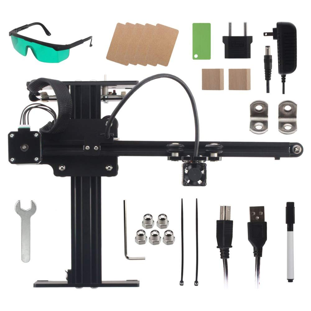 TOOGOO Neje Master 405Nm 3500Mw Automatic Engraving Machine Woodworking Engraving Machine Wood Router