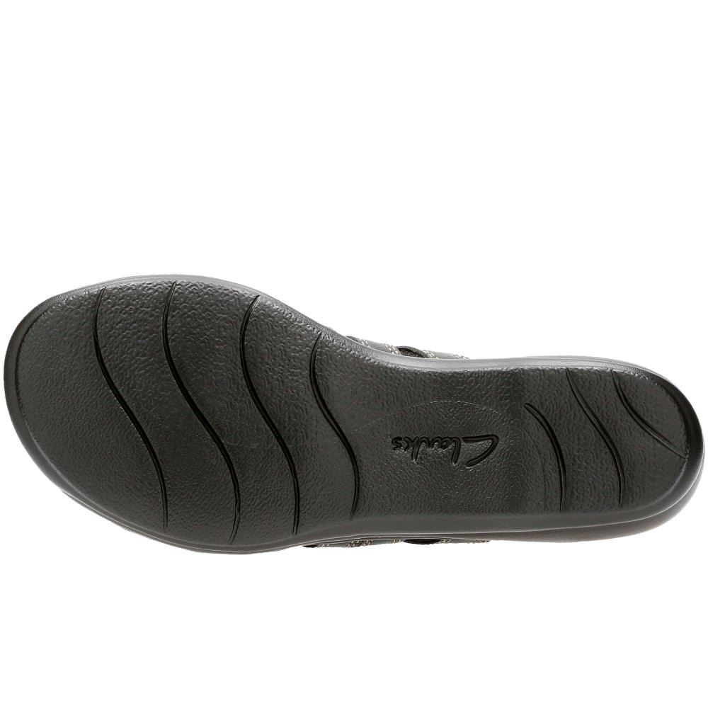 Clarks Leisa Grace, Damen Schwarz Leder Maultier Sandale Riemen mit 3 Riemen Sandale 3 schwarz Leder - bf9b09
