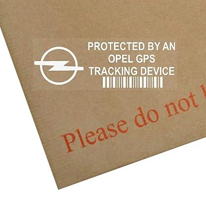 5 x Opel dispositivo de seguimiento GPS Tracker Alarma de Seguridad Pegatinas para ventana 87 x 30 mm-car