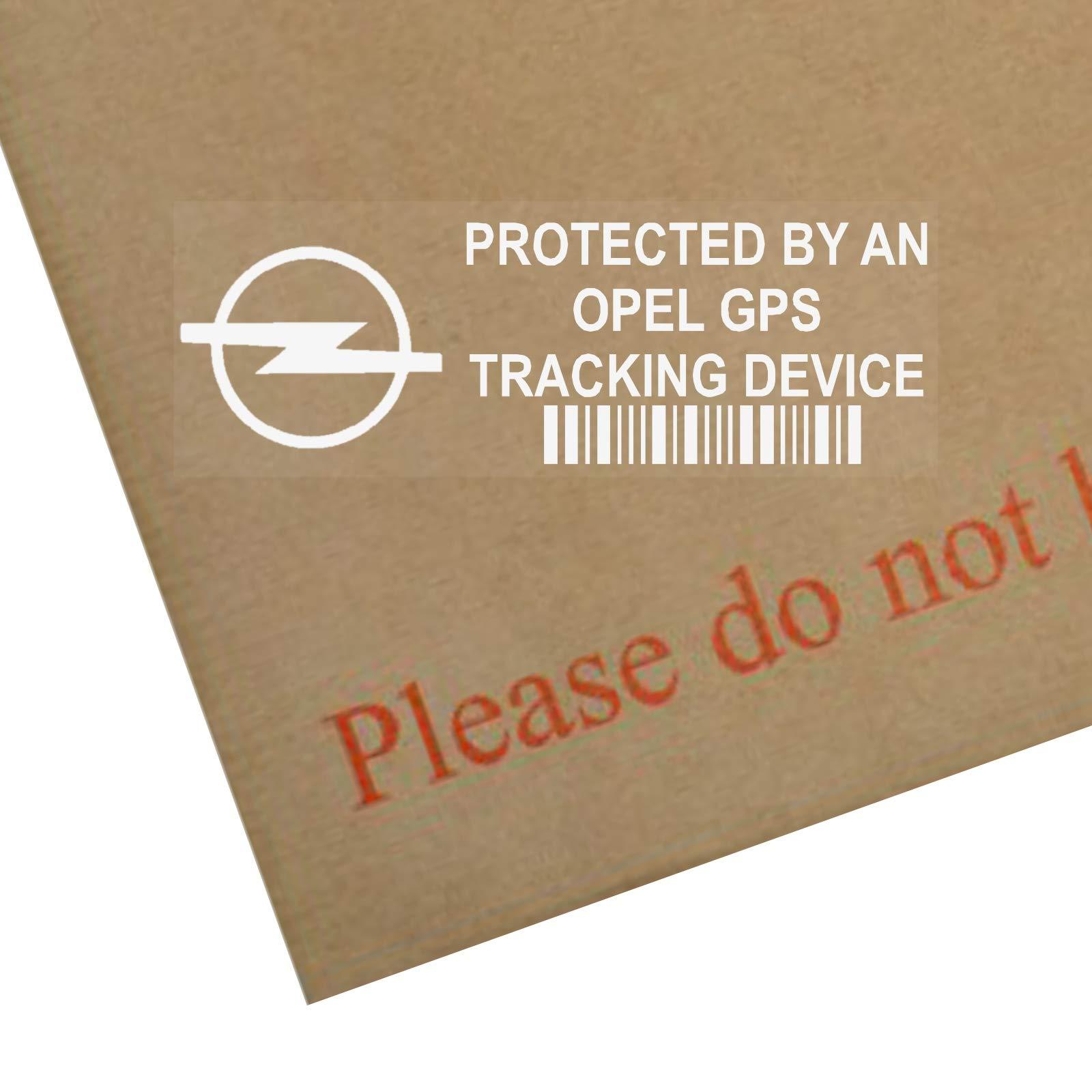 5 x Opel dispositivo de seguimiento GPS Tracker Alarma de Seguridad Pegatinas para ventana 87 x