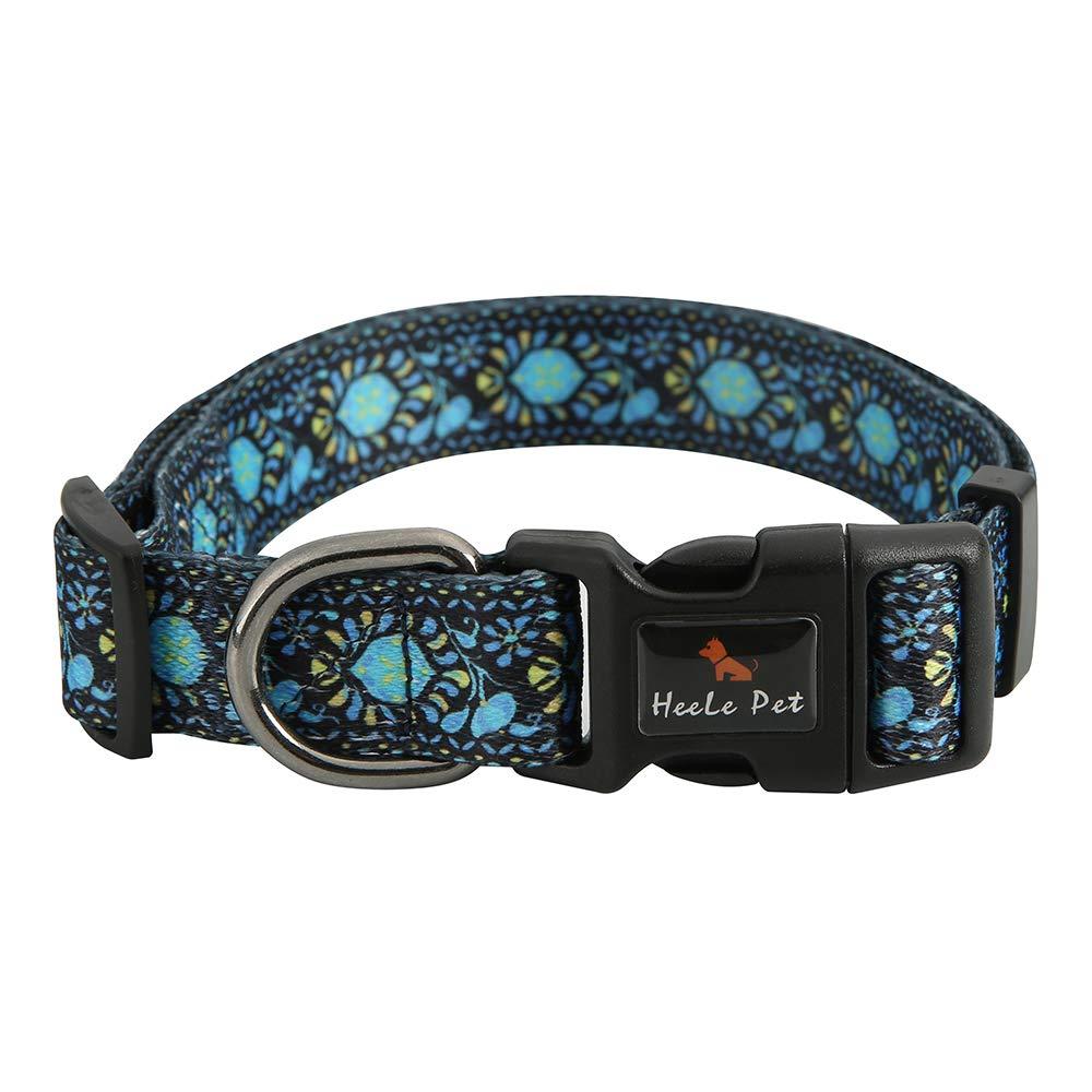 Heele Pet Personalized Collars Pet Collar High Density Polyester Dog Collar 14.2''-31.1'' 10 colors XL-R001-Collar-M