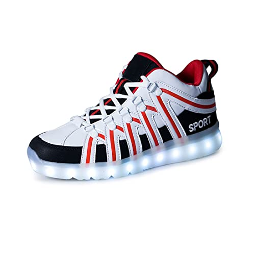 ae1e2e9ed48806 O N LED Schuh USB Aufladen 7 Farbe Leuchtend Sportschuhe Sneakers Turnschuhe  Freizeit Schuhe Fuer Unisex-