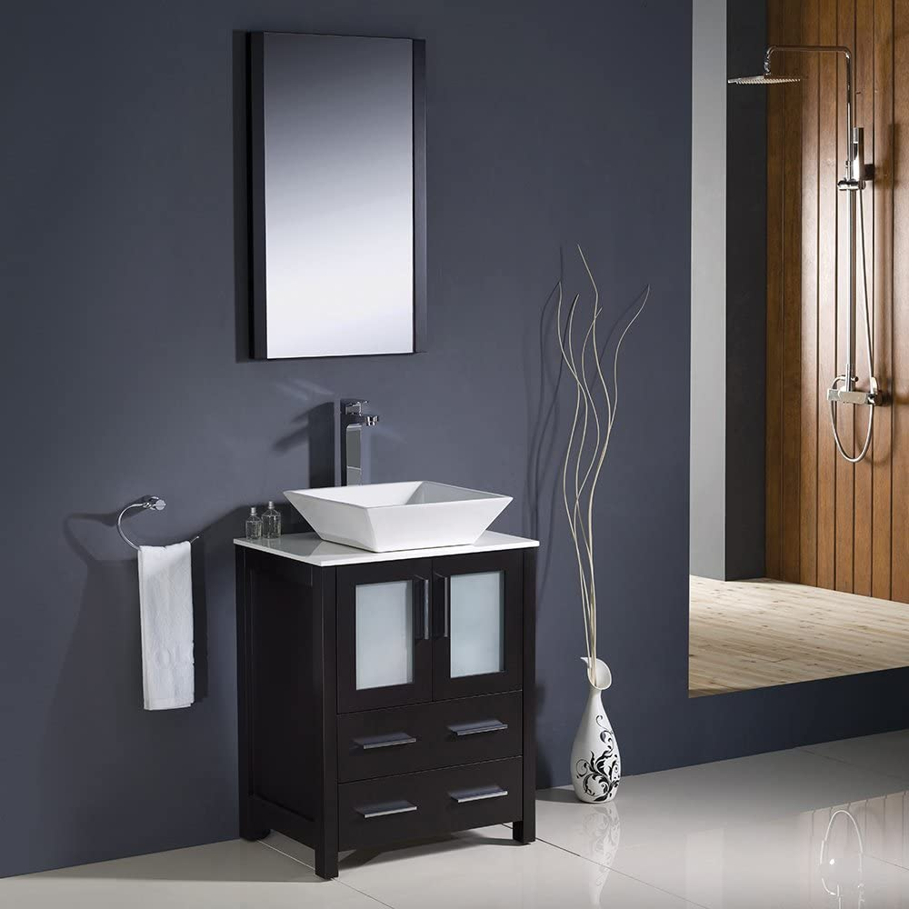 Fresca Bath FVN6224ES-VSL Torino 24 Vanity with Sink, Espresso