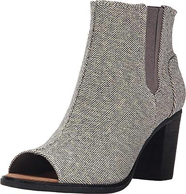 TOMS Women's Majorca Peep Toe Casual Shoe (5 B(M) US, Grey Metallic)
