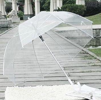 Mango largo paraguas transparente paraguas soleado general mango recto (Color : #3)