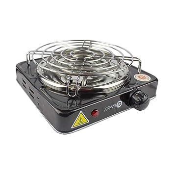 Paide Cocina eléctrica con reijlla para cachimba Shisha Hookah Camping para cocinar carbón (Negro): Amazon.es: Jardín