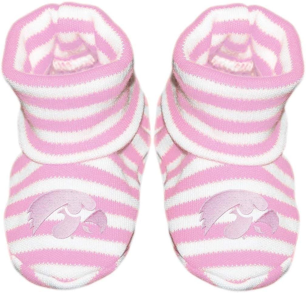 University of Iowa Hawkeye Newborn Baby Striped Bootie Sock