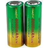 Malloom 2pcs 3.7V 8800mAh 26650 Li-ion batería recargable para LED linterna antorcha