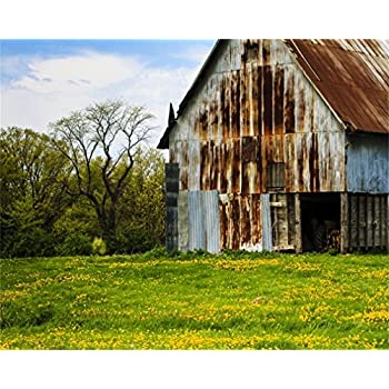 amazoncom aofoto 10x8ft vintage farmhouse barn