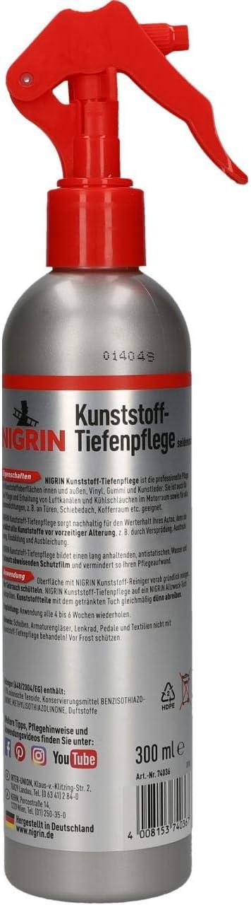 Nigrin 74036 Kunststoff Tiefenpflege 300 Ml Seidenmatt Auto