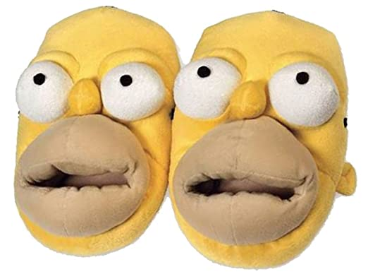 ce8b1d90b141c Chaussons Homer Simpson 3D - 41 43 - multicolor  Amazon.fr ...