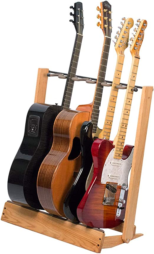 Electric Acoustic Wood Guitar Stand Wooden Guitar Rack Ships from UK