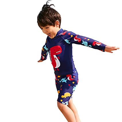 Amazon.com : QETU Children Swimsuit, Cute Handsome Boy, Long ...