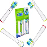 RRZ Generic Replacement Oral-B FlossAction EB25 Brush Heads Fits:Oral-B Vitality Dual Clean,Oral-B Vitality Floss Action,Oral-B Pro 5000/600,Oral-B Pro 1000/2000,Oral-B Pro 6000 Smartseries,Oral-B Pro 7000 Smartseries.(4pcs/pack)