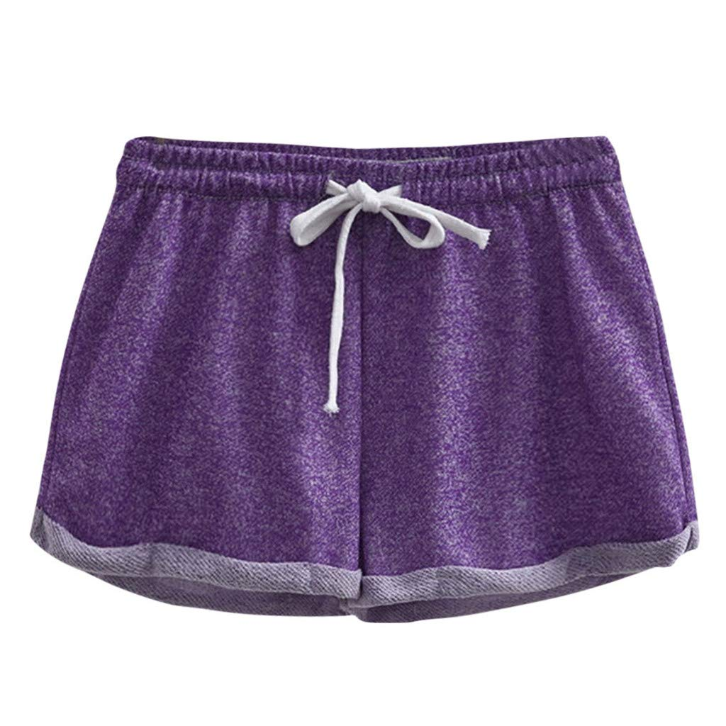 wodceeke Solid Color Teen Girls Casual Stretch Running Workout Yoga Shorts Sports Fitness Short Pants