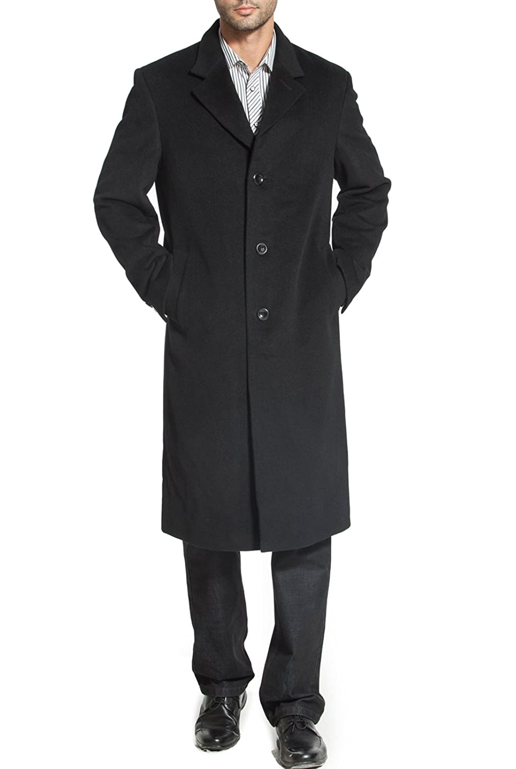 Men's Vintage Style Coats and Jackets BGSD Mens Henry Cashmere Blend Long Walking Coat (M) $169.99 AT vintagedancer.com