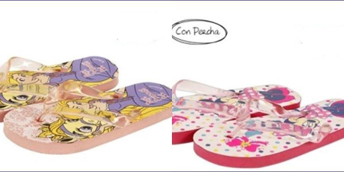 Pack de 2 Pares de Chanclas - Minnie y Rapunzel Oferta (32): Amazon.es: Zapatos y complementos