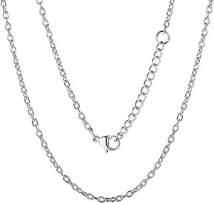 Acier Inox Chaîne Vénitienne pour Pendentif 45-60 cm Collier Femme Hommes