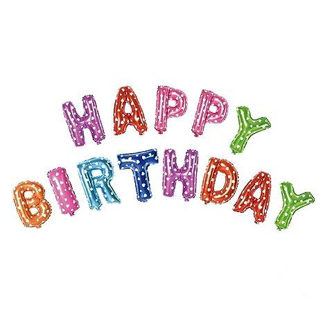 Acryls UK Ltd Multicolour Alphabet 16 Inch Letters Foil Balloons Banner Happy