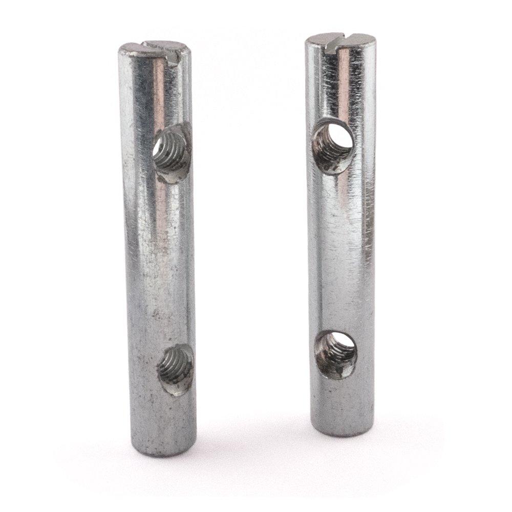 Cruz Dowel Barril Tuercas, zinc, dos agujeros, M6 x 60, 20 unidades M6x 60 20unidades SD Products Ltd CDZP0050-20